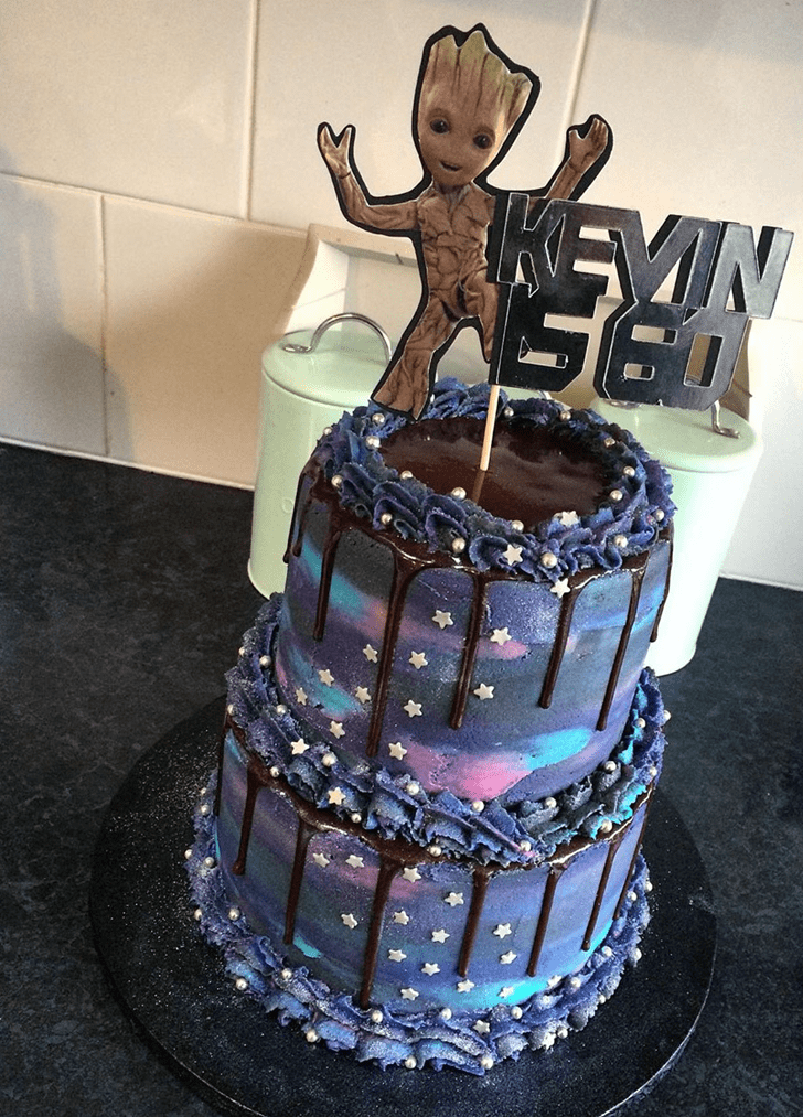 Admirable Guardians of the Galaxy Cake Design
