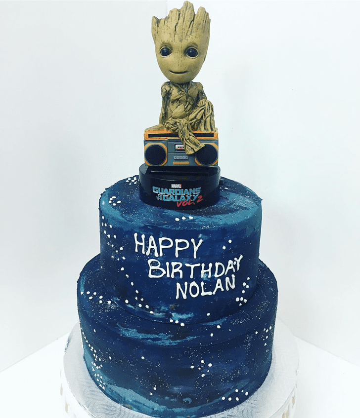Adorable Guardians of the Galaxy Cake