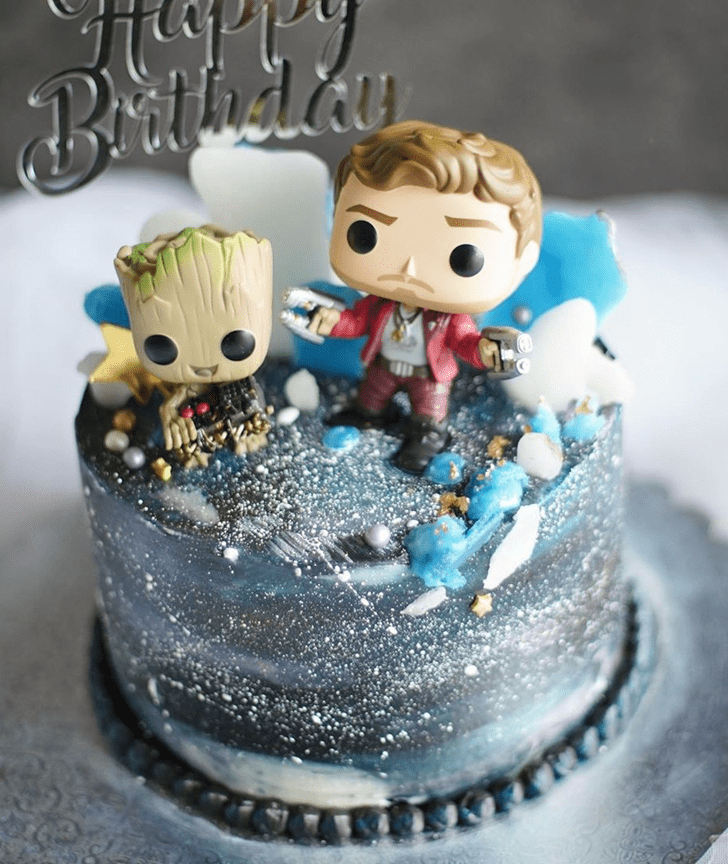 Angelic Guardians of the Galaxy Cake
