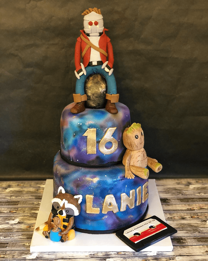 Appealing Guardians of the Galaxy Cake