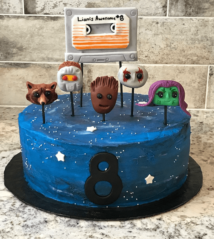 Beauteous Guardians of the Galaxy Cake