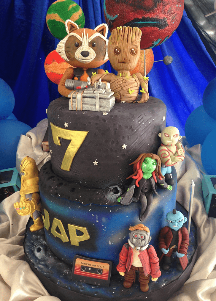 Classy Guardians of the Galaxy Cake