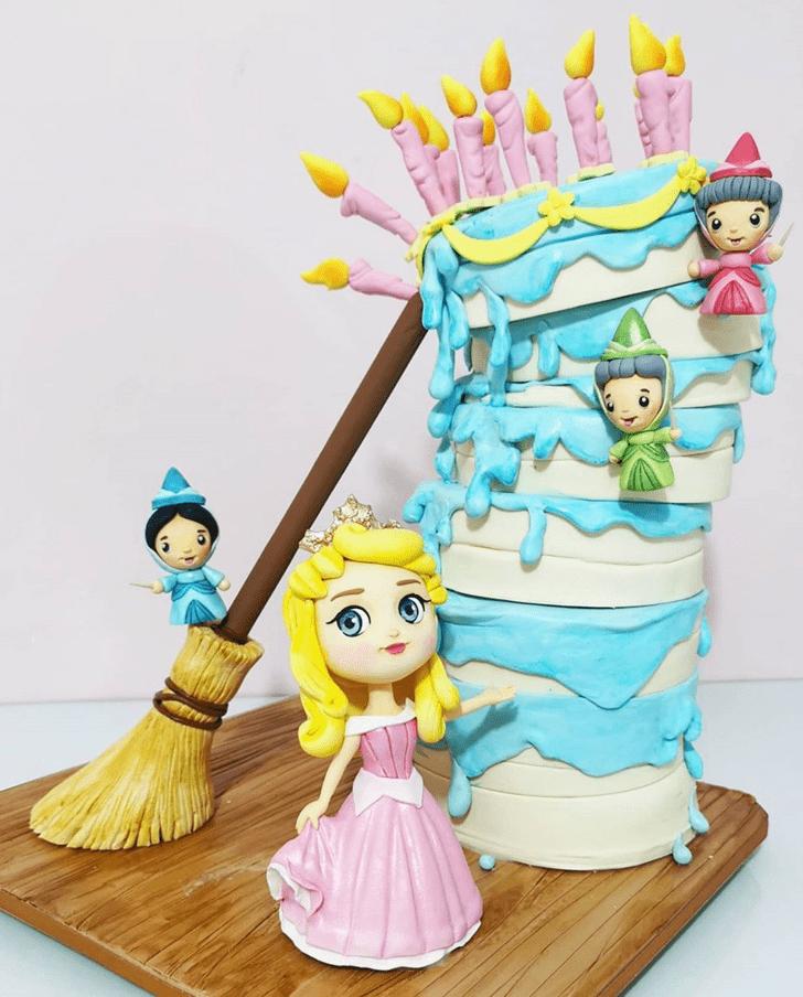 Charming Sleeping Beauty Cake